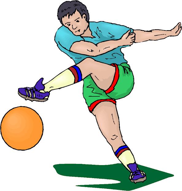 Man Kick Football Free Clipart Microsoft