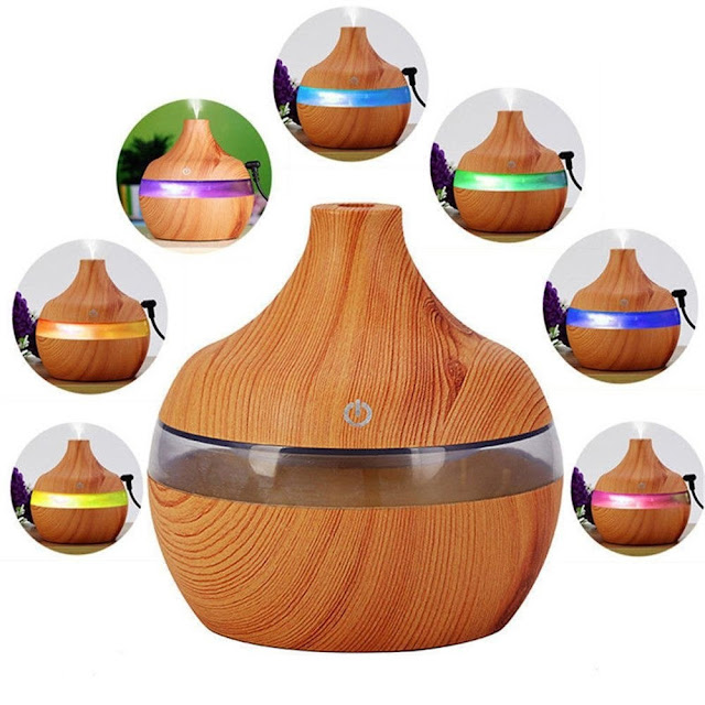 $4.68 OFF USB Wood-grainLED Night Lamp Humidifier,free shipping $7.69 (Code:ZE4427)