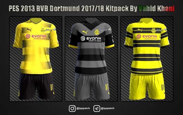 Borrusia Dortmund 2017-18 Kit PES 2013