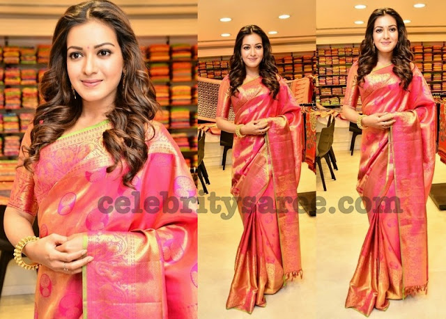 Catherine Tresa Kanchi Pattu Saree