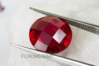 Loose-Synthetic-Ruby-Red-double-turtle-face-cut-Stone-wholesale