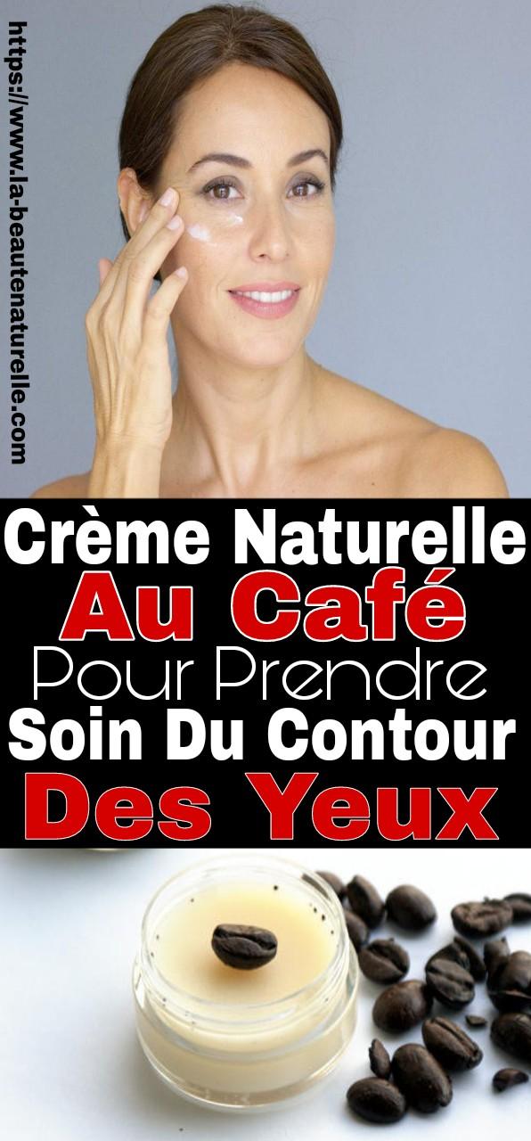 Crème naturelle au café pour prendre soin du contour des yeux