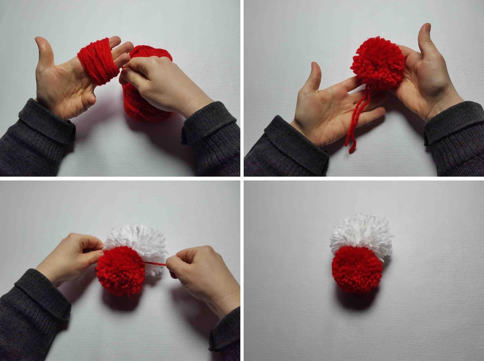 Manualidades herme como hacer una hello kitty de lana - Como hacer pompones de lana rapido ...