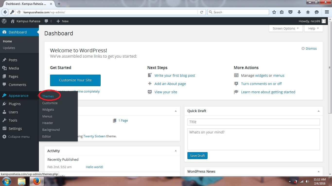 tutorial, cara, mengganti, template, theme, wordpress, blog, website