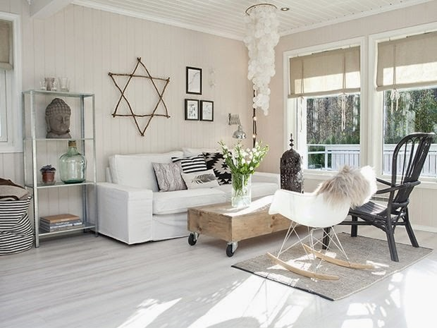 Como mezclar madera y blanco con encanto y estilo nórdico
