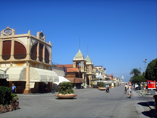 Viareggio's seafront promenade is lined with Art Nouveau buildings from the 1920s and 1930s