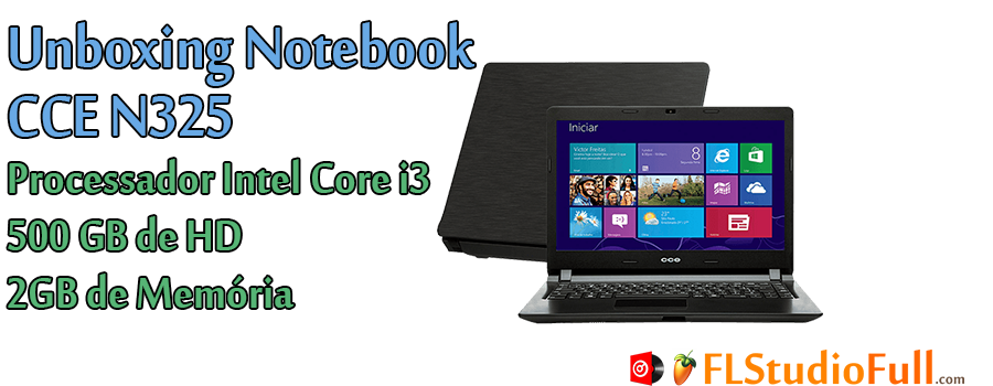 Unboxing Notebook CCE N325 Core i3/500GB HD/2GB