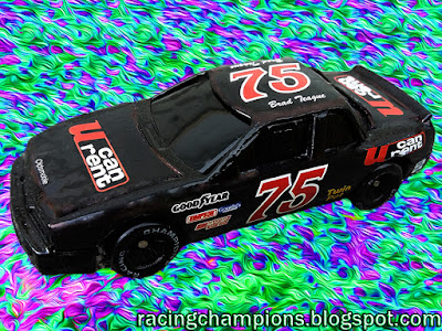 Brad Teague #75 Food Country BGN 1990 Goody's 300 crash Racing Champions 1/64 NASCAR diecast blog