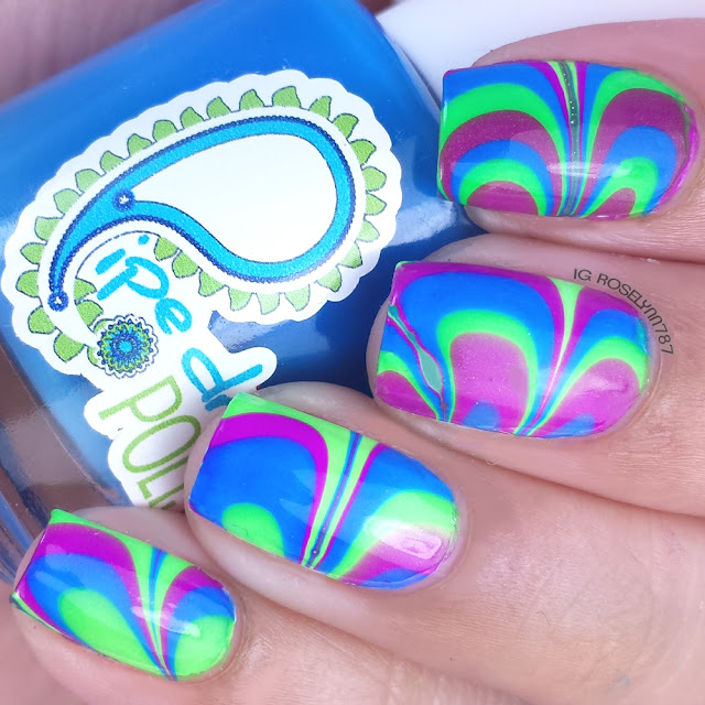 Bestie Triplet Nails Watermarble