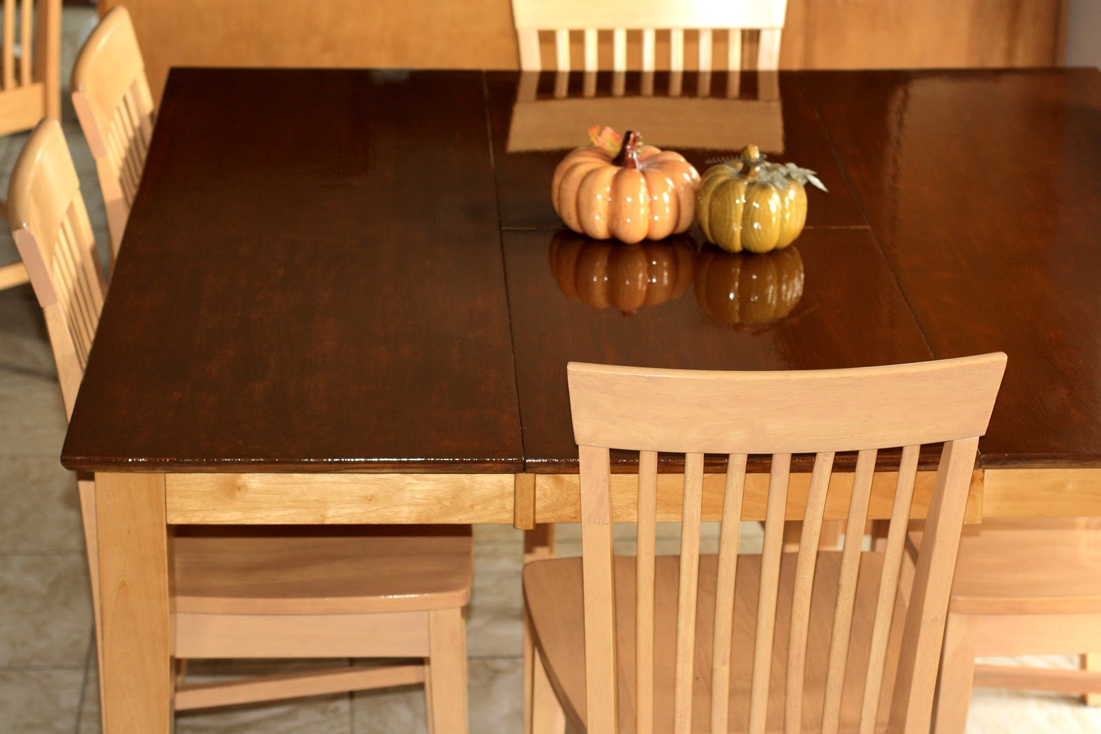 Staining Kitchen Table And Chairs