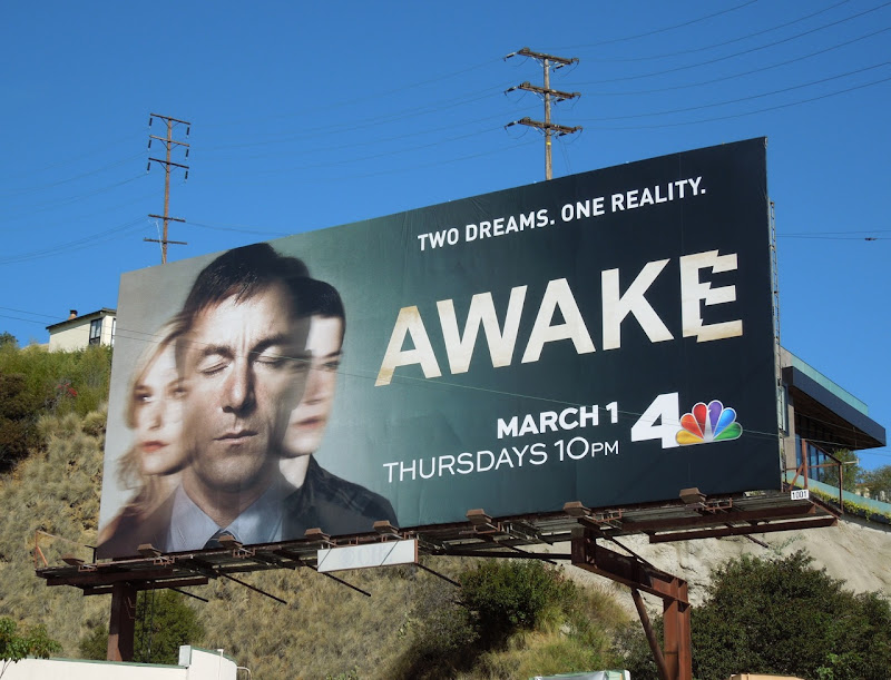 Awake series premiere TV billboard