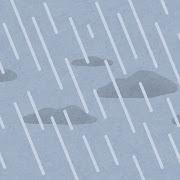 雨が降る空のイラスト(背景素材)