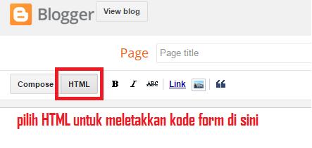 tampilan menu html