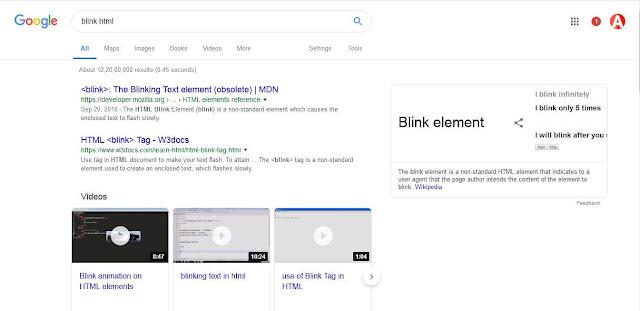 blink google trick
