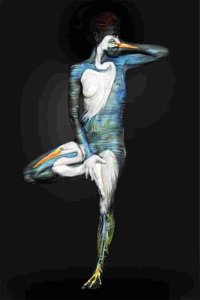Боди-арт художница. Shannon Holt