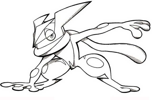 greninja coloring pages Coldly Greninja Coloring Page   Free Printable Coloring Pages for Kids greninja coloring pages