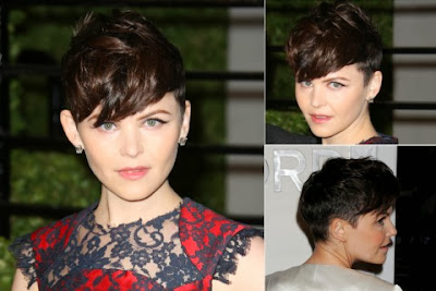Ginnfer Goodwin short haircut with bangs