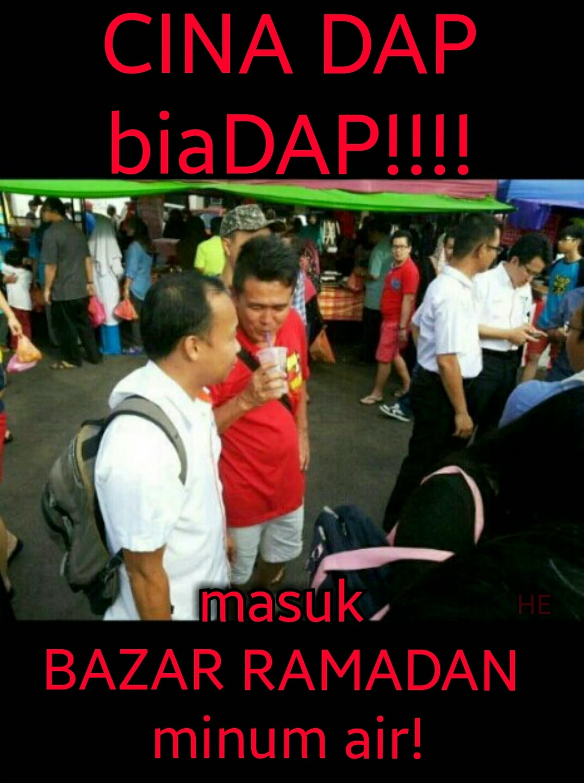 Cina DAP Bermaharajalela Di Bazar Ramadan KluangMinum Air Di