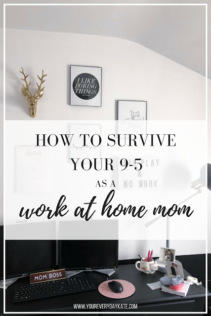 work at home mom survival tips