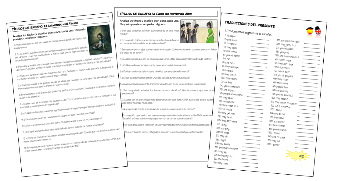 Spanish Hub: Year 2 Grammar Booklet (AQA)