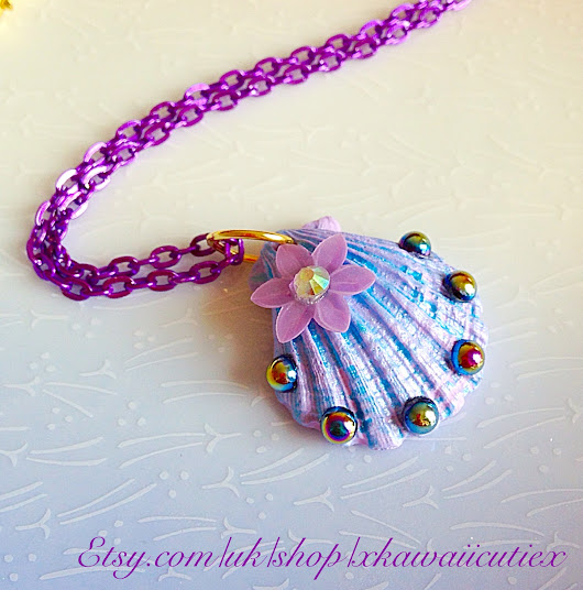 Pastel Mermaid Shell Necklace
