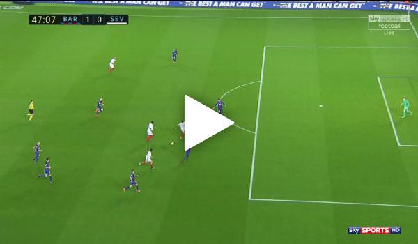 Video Barcelona 2 - 1 Sevilla La Liga Vòng 11