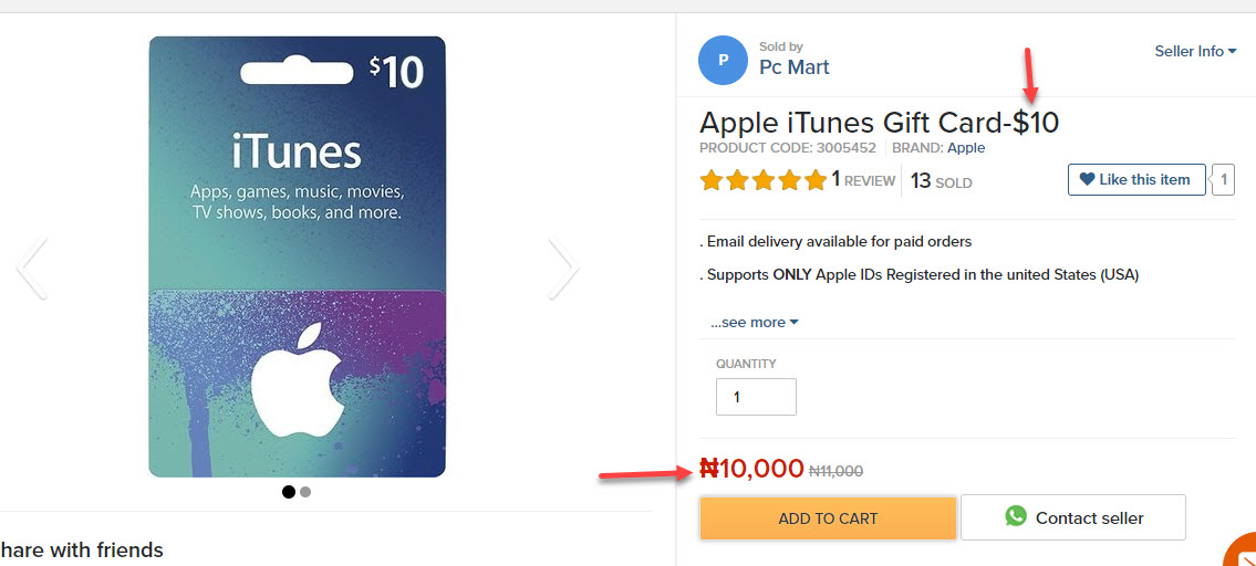 Buy US iTunes Cards In Nigeria, Pay In Naira And Instant