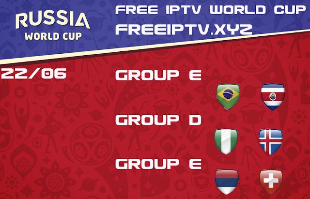 World Cup 2018 iptv free m3u 22/06/2018