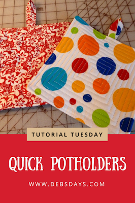 Quick and Easy Quilted Fabric Potholders Sewing Project