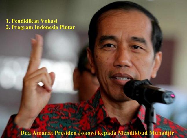 2 Amanat Mendikbud Muhadjir Effendy dari Presiden Jokowi