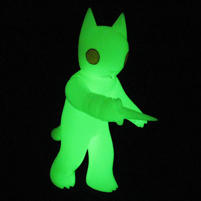 Glow in the Dark Cat with Dagger Vinyl Figure by Deth P Sun & FOE Gallery