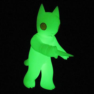 Glow in the Dark Cat with Dagger Vinyl Figure by Deth P Sun & FOE Gallery