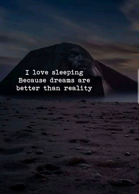 DREAMS ARE BETTER THAN MY REALITY