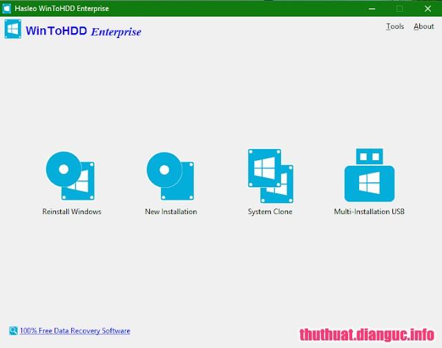 Download WinToHDD Enterprise 3.2 – Cài Windows trực tiếp từ ổ cứng HDD