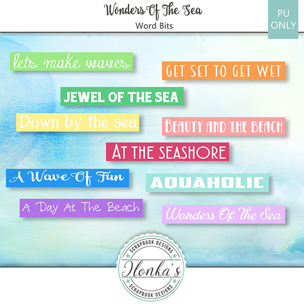 Wonders Of The Sea & Freebie