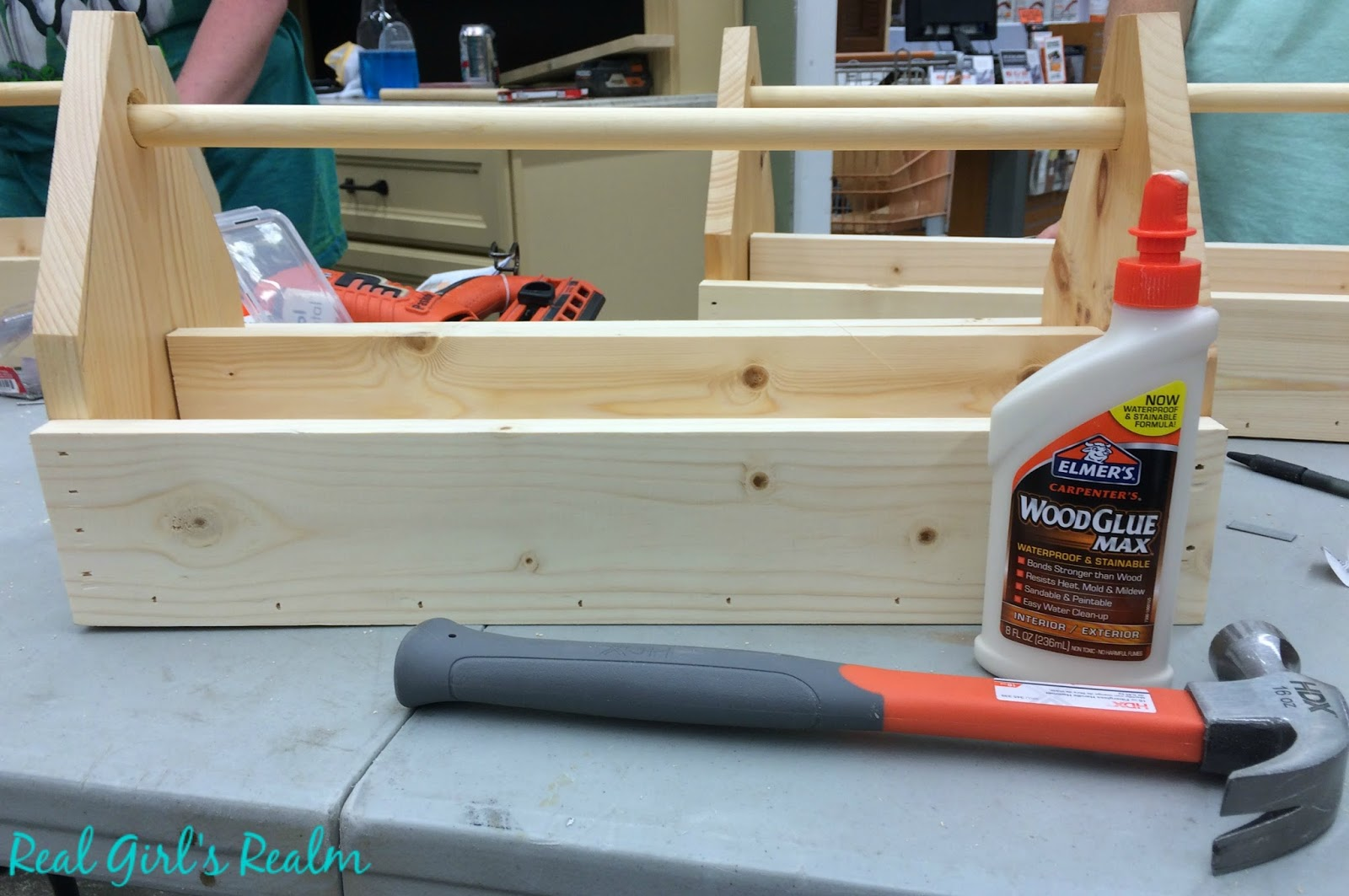 real girl s realm building a wooden grill tool caddy at home depot