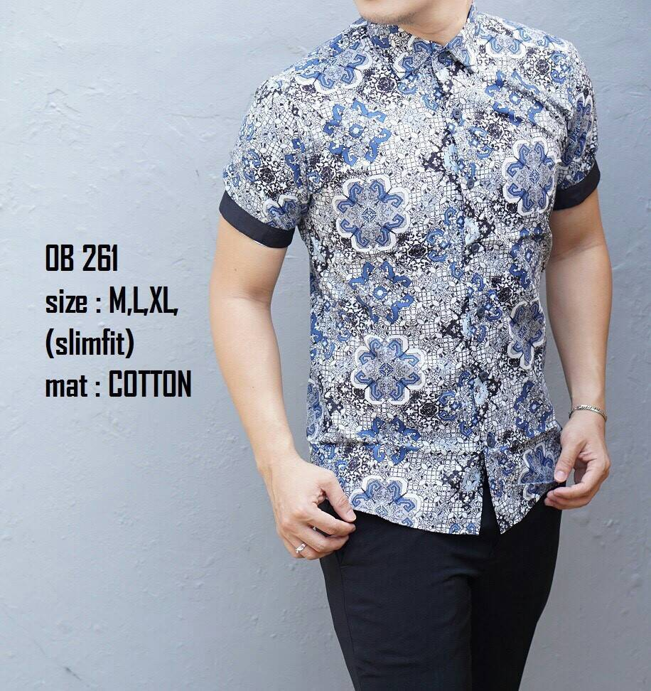 Baju Batik Pria Lengan Pendek  758cd5dfb1