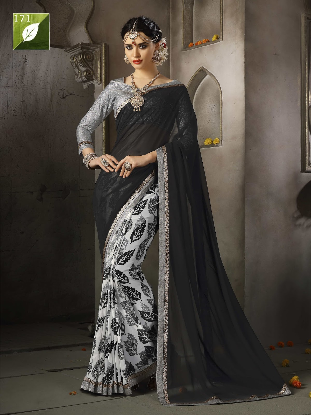 Colours – Embroidered Fancy Saree Online