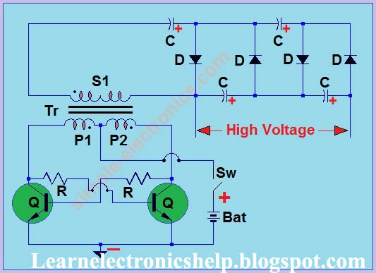 circuit diagram of a mosquito swatter / mosquito racket ... wiring a schematic diagram wiring a bat diagram