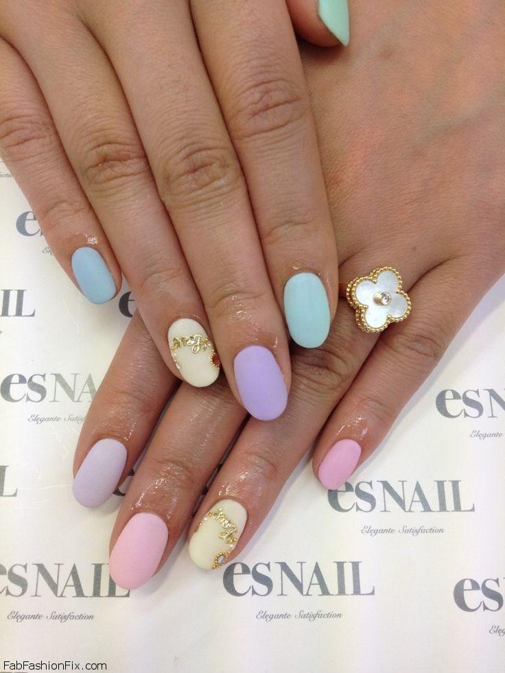 Pastel nail colors!