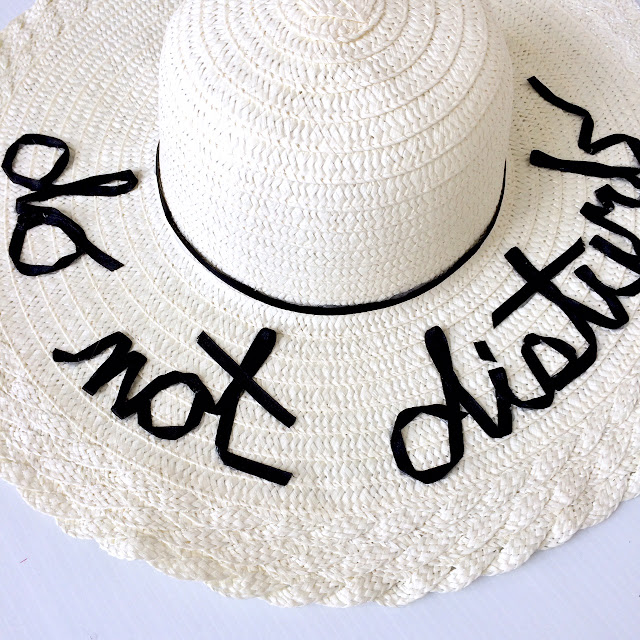 DIY Do Not Disturb Floppy Hat 8