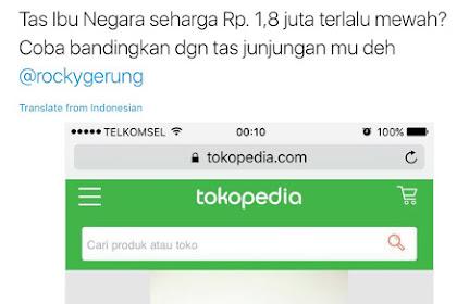 Demi Jilat Jokowi, Komut Perkebunan Nusantara III Perlihatkan Harga Tas Iriana Jokowi dari Tokopedia