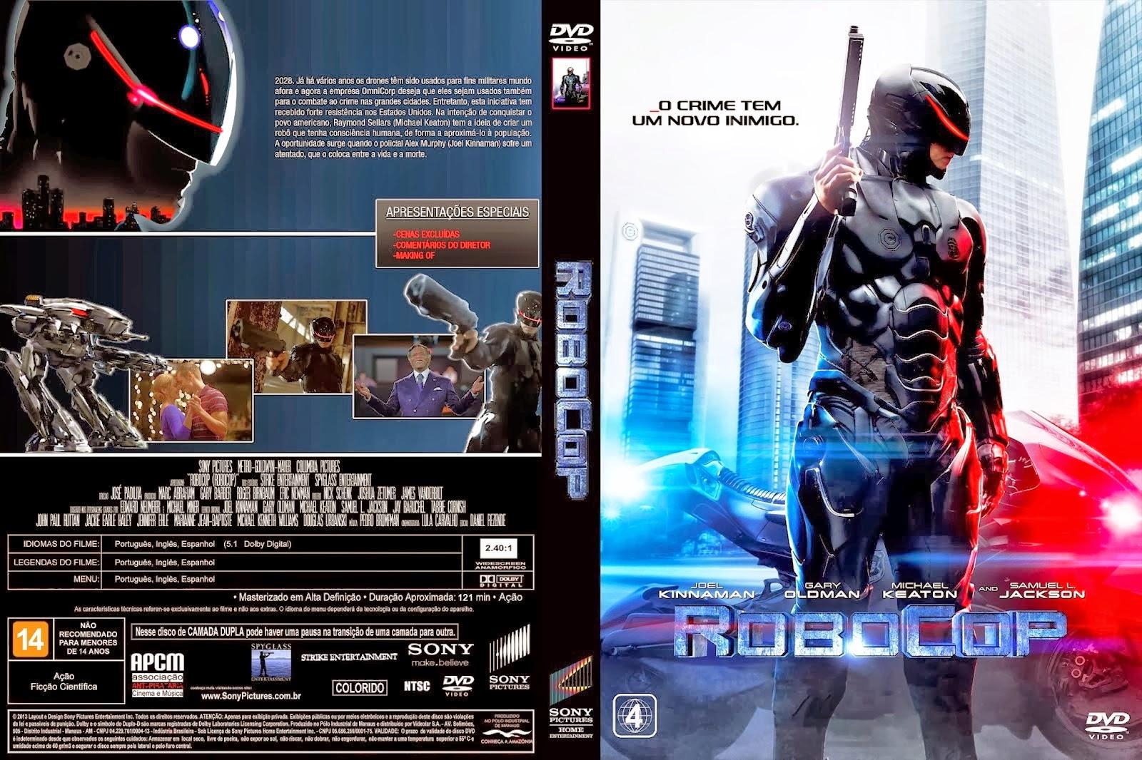 Filme RoboCop 2014 DVD Capa