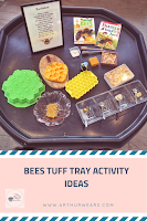 PIN bees tuff tray activity ideas