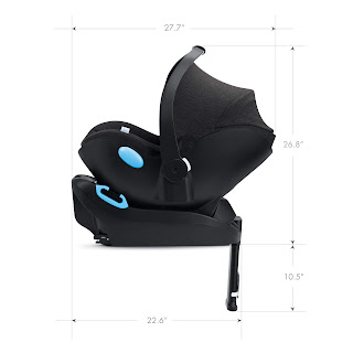 Clek Liing car seat specifications, side view