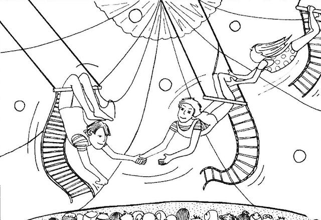 Gambar Mewarnai Circus Untuk Anak - 8