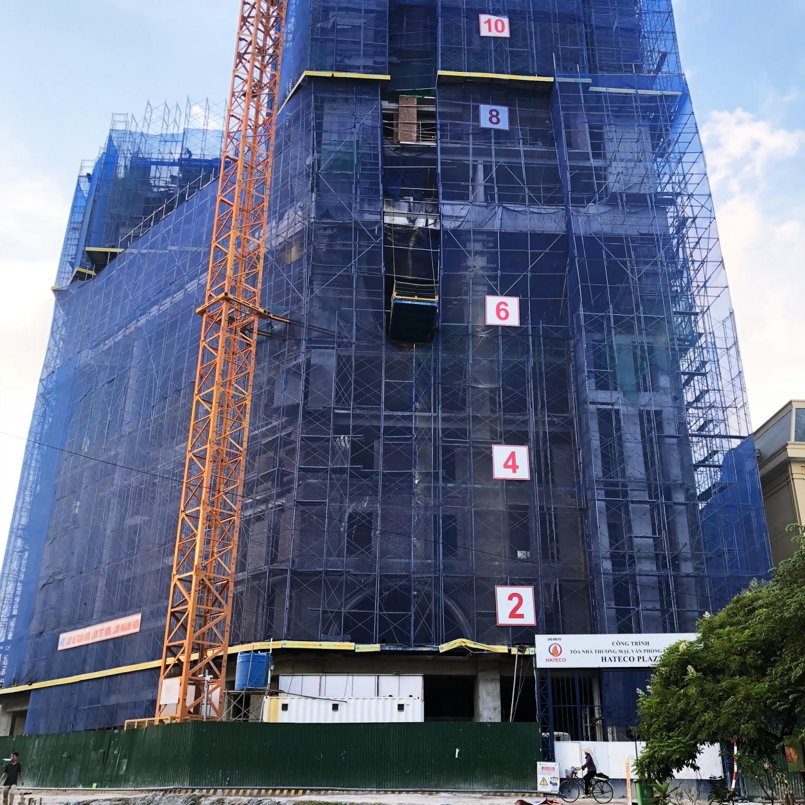 Tiến độ xây dựng mới nhất Hateco Laroma ngày 12/07/2018