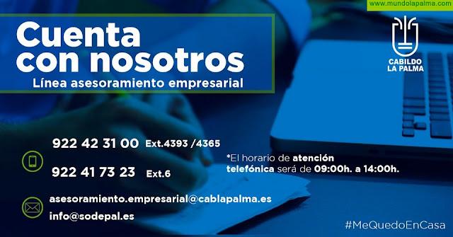 El Cabildo atiende unas 500 consultas de empresas, pymes y autónomos a través de su Línea de Atención Empresarial
