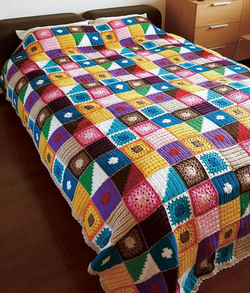 Beautiful Skills Crochet Knitting Quilting Kukka Bedspread
