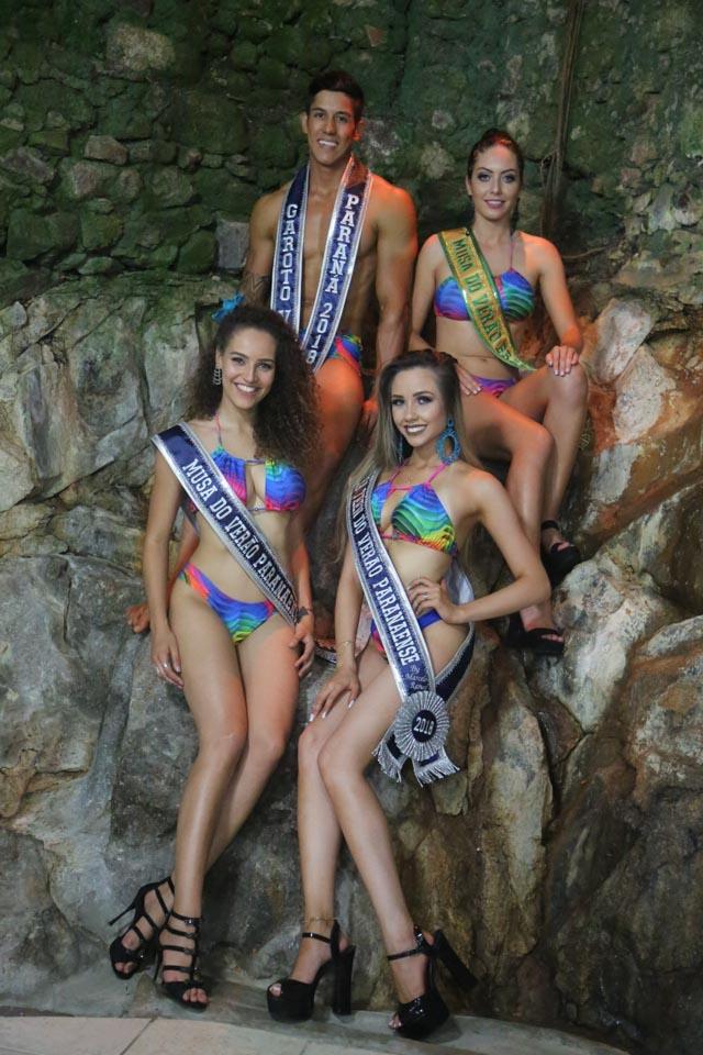 Vencedores de concurso de beleza de verão do Paraná. Foto: Arnaldo Silveira